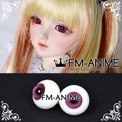 16mm Light Grape Wine Spiral & Black Pupil BJD Dolls Glass Eyes Eyeballs Accessories