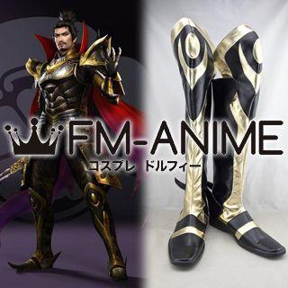 Samurai Warriors 4 Nobunaga Oda Cosplay Shoes Boots