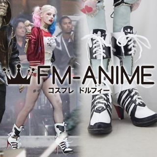 Suicide Squad (DC 2016 film) Harley Quinn Cosplay Shoes Boots