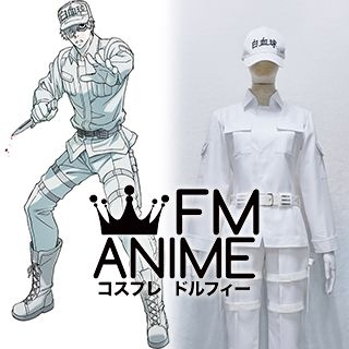 Cells at Work! White Blood Cell U-1146 Neutrophil Cosplay Costume (Female L)