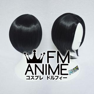 Bang Central Parting Style Short Bob Black Cosplay Wig