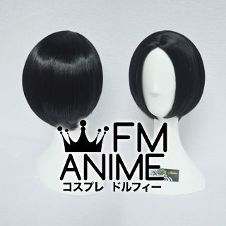 Bang Central Parting Style Short Straight Black Cosplay Wig