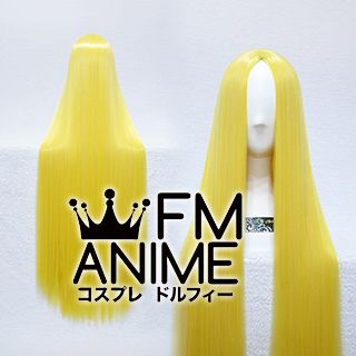 Bang Central Parting Style 100cm Long Length Straight Mixed Yellow Cosplay Wig