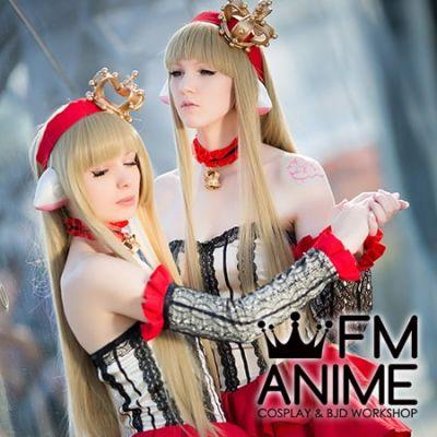 Chobits Chii Red Lolita Dress Cosplay Costume