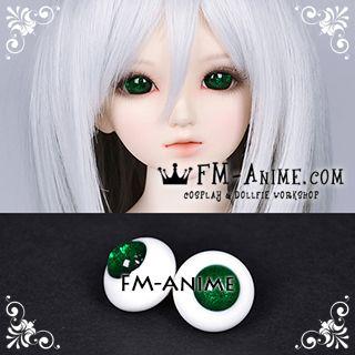 18mm Emerald Green Shiny Solid Color BJD Dolls Glass Eyes Eyeballs Accessories