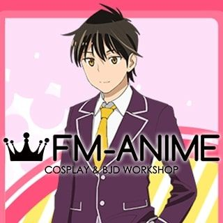 Come Together! to the Seton Academy Jin Mazama Black Cosplay Wig