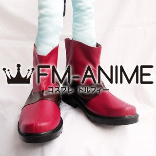 Tales of the Abyss (series) Cosplay Shoes Boots (Red & Brown)