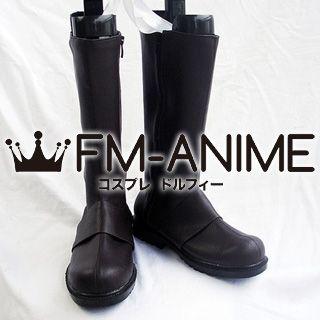 Hakuoki Souji Okita Cosplay Shoes Boots (Dark Brown)