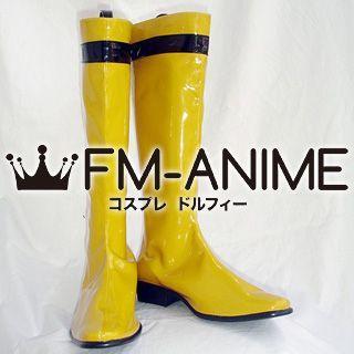 Super Sentai Series Samurai Sentai Shinkenger Kotoha Hanaori / Shinken Yellow Cosplay Shoes Boots