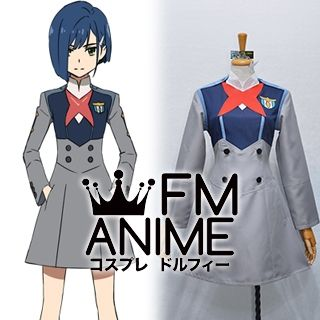 DARLING in the FRANXX Code015 Ichigo Uniform Cosplay Costume (Female L)