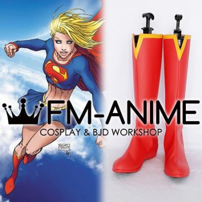 DC Comics Supergirl Cosplay Shoes Boots