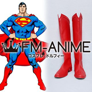 DC Comics Superman Red Cosplay Shoes Boots