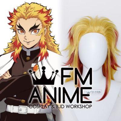 Demon Slayer: Kimetsu no Yaiba Kyojuro Rengoku Cosplay Wig