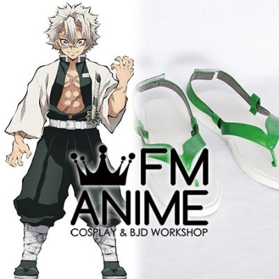 Demon Slayer: Kimetsu no Yaiba Sanemi Shinazugawa Cosplay Shoes