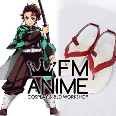 Demon Slayer: Kimetsu no Yaiba Tanjiro Kamado Kyojuro Rengoku Sabito Cosplay Shoes