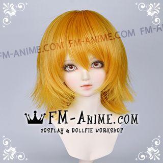 Short Layered Dark Gold BJD Dolls Wig