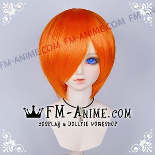 Short Dark Orange BJD Dolls Wig