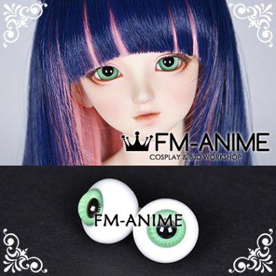 16mm Seafoam Green Stripe & Black Pupil BJD Dolls Glass Eyes Eyeballs Accessories