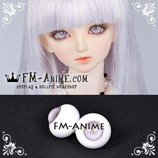 16mm / 18mm Grayish Purple & Gray Pupil BJD Dolls Glass Eyes Eyeballs Accessories