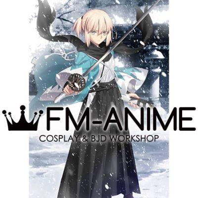 Fate/Grand Order Okita Souji Haori and Hakama Sprite Cosplay Costume