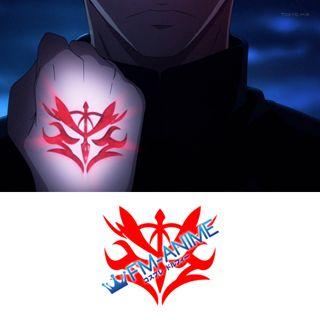 Fate/Zero Kayneth Archibald & Sola-Ui Nuaba-Re Sophia-Ri Command Seals Cosplay Tattoo Stickers