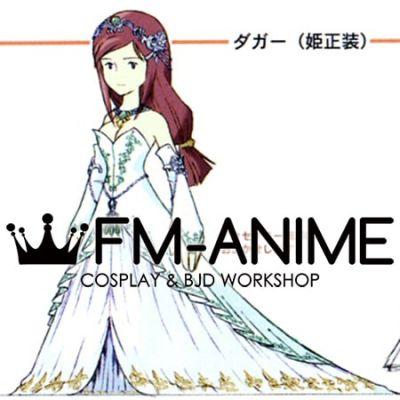 Final Fantasy IX Garnet Til Alexandros XVII White Dress Cosplay Costume