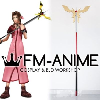 Final Fantasy VII Aerith Gainsborough Princess Guard Staff Cosplay Prop