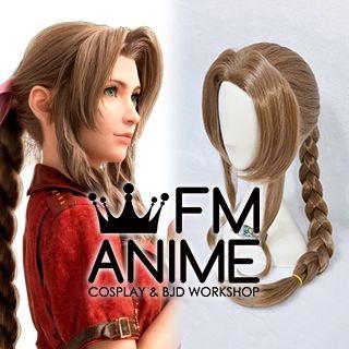 Final Fantasy VII Remake FFVII R Aerith Gainsborough Cosplay Wig
