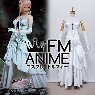 Lightning Returns: Final Fantasy XIII Lightning White Midnight Mauve Dress Cosplay Costume