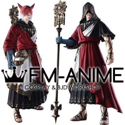 Final Fantasy XIV G'raha Tia Crystal Exarch Cosplay Costume Accessories Shoes