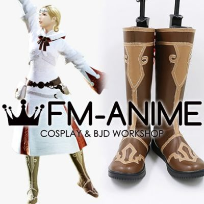 Final Fantasy XIV White Mage Brown Cosplay Shoes Boots