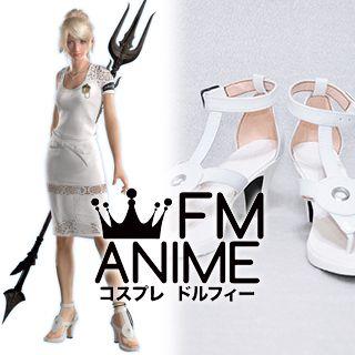 Final Fantasy XV: A New Empire Lunafreya Nox Fleuret Cosplay Shoes Boots