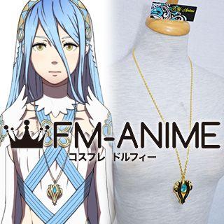 Fire Emblem Fates Azura Gold Metal Necklace Cosplay Accessories