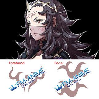 Fire Emblem Fates Nyx Cosplay Tattoo Stickers