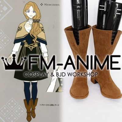 Fire Emblem: Three Houses Mercedes von Martritz Meche Chamois Leather Cosplay Shoes Boots