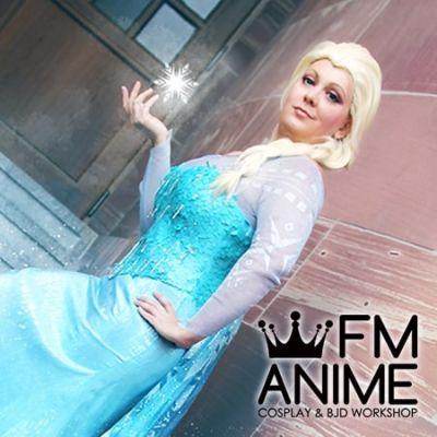 Frozen Disney 2013 film Elsa Cosplay Wig