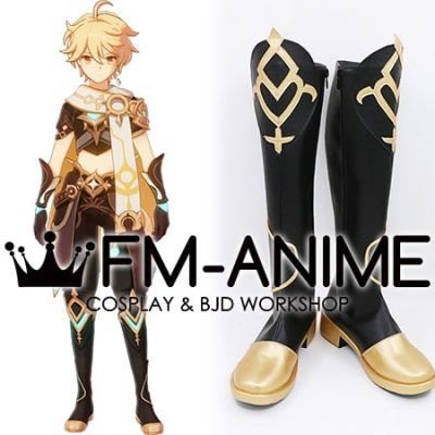 Genshin Impact Aether Male Traveler Cosplay Shoes Boots