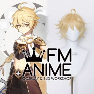 Genshin Impact Aether Male Traveler Cosplay Wig