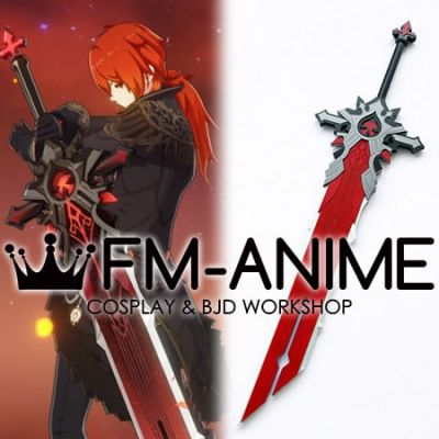 Genshin Impact Diluc Ragnvindr Cosplay Weapon Prop Sword