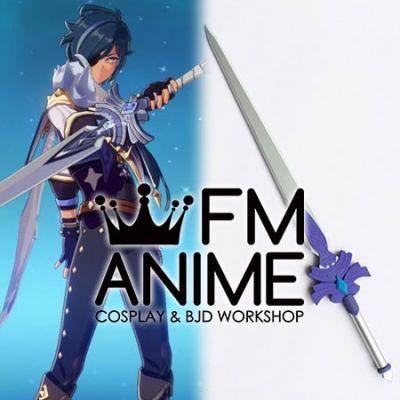 Genshin Impact Keqing Kaeya Cool Steel Cosplay Prop Weapon Sword
