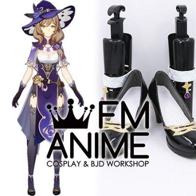 Genshin Impact Lisa Minci Cosplay Shoes