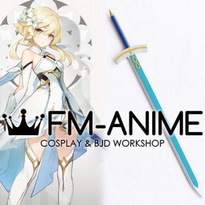 Genshin Impact Lumine Female Traveler Silver Sword Base Cosplay Prop Weapon