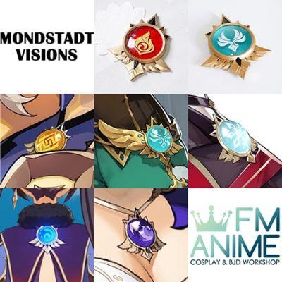 Genshin Impact Mondstadt Visions Element Cosplay Porps Accessories
