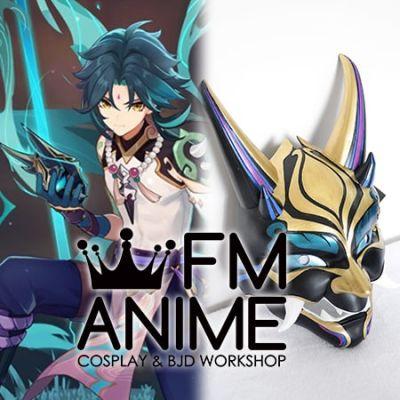 Genshin Impact Xiao Alatus Demon Mask Cosplay Porp Accessory