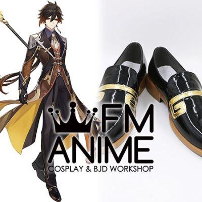 Genshin Impact Zhongli Cosplay Shoes