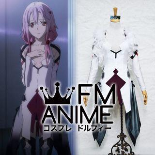 Guilty Crown Inori Yuzuriha White Cosplay Costume