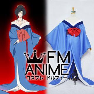 Hell Girl Hone Onna Blue Kimono Cosplay Costume