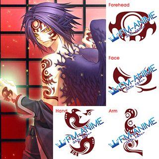 Hiiro no Kakera Atori Mahiro Cosplay Tattoo Stickers