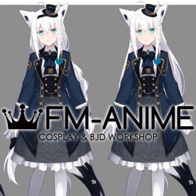 Virtual YouTuber Vtuber Hololive Shirakami Fubuki Fifth Cosplay Costume