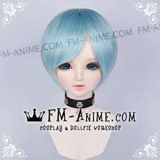 Short Silver Blue BJD Dolls Wig